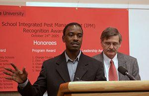 Godfrey Nalyanya and Mike Linker at School IPM meeting